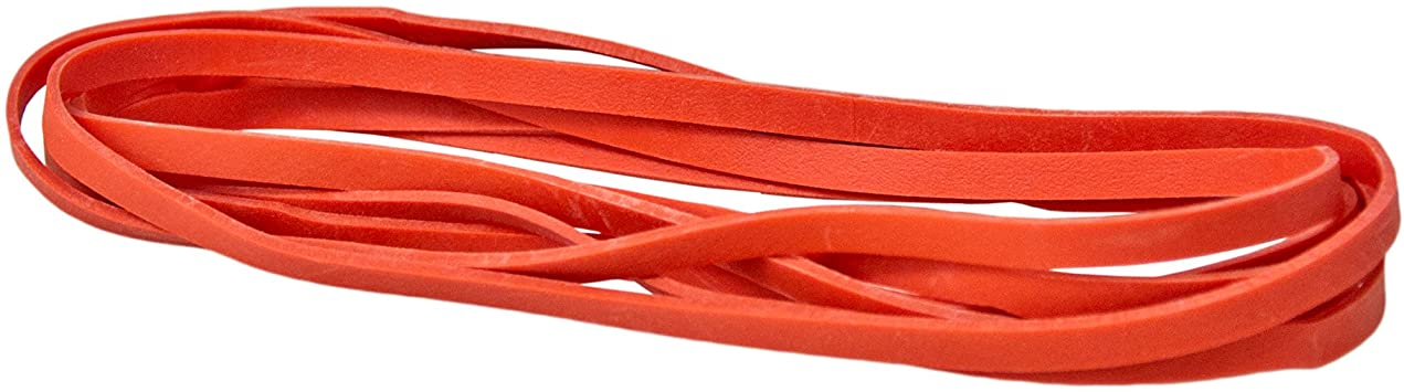 "8.5""x 1/4"" RED PACKER BANDS 1#/BX"